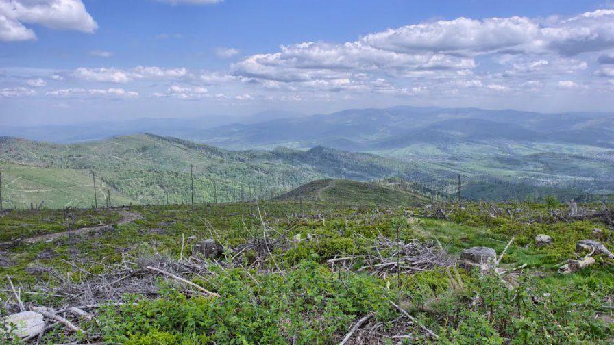 Widok zBaraniej Góry nawschód