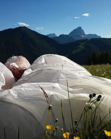 Paralotnia w Alpach