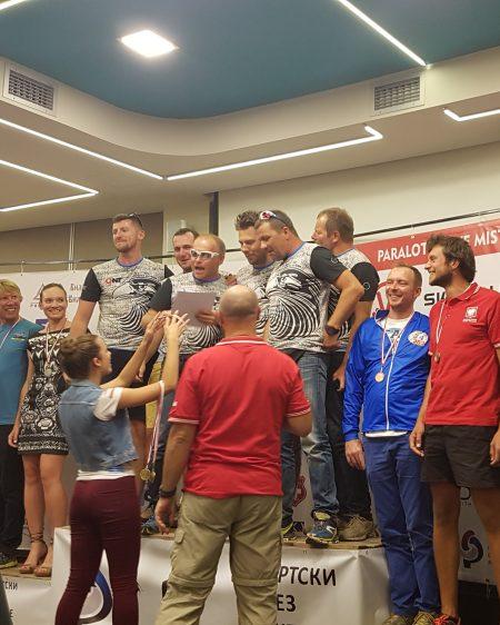 Podium drużynowe Paralotniowych Mistrzostw Polski-2017