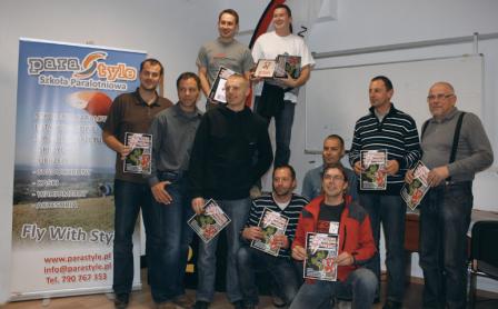 Podium Polska Liga Paralotniowa 2011